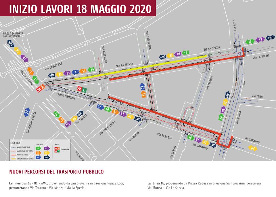 La mappa del trasporto pubblico