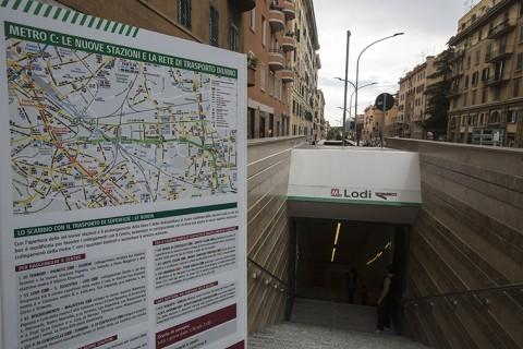 Esterno stazione Metro C di Roma